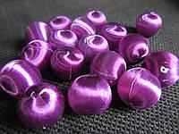 Шелковые шарики сирень, 1,7 см, 10 шт, (12\10) (цена за 1 шт. +2 грн.), фото 1