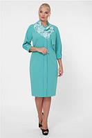 Женское платье до колен демисезонное большого размера 52-58 р цвет мята