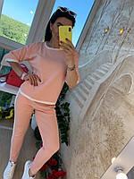 Костюм женский, стильный, пудровый, 211-765