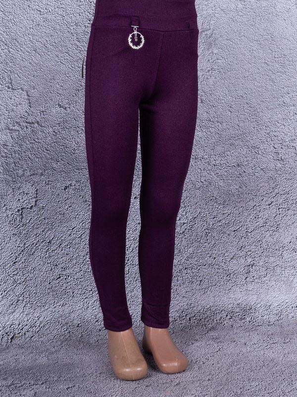 Лосины, Леггинсы детские с металлическим украшением на шлёвках (винный, фиолетовый)