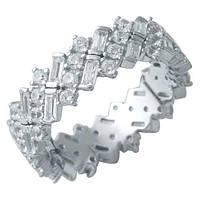 Серебряное кольцо Unicorn с фианитами (1929469) 18 размер, фото 1