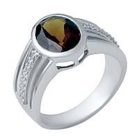 Серебряное кольцо Unicorn с натуральным гранатом (1940792) 17 размер