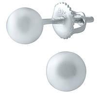 Серебряные серьги  без камней , фото 1