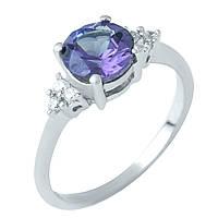 Серебряное кольцо Unicorn с натуральным аметистом (1951712) 17 размер, фото 1