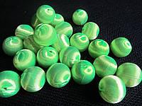 Шарики декоративные салатовые шелковые, 10 шт (12\10) (цена за 1 шт. +2 грн.), фото 1