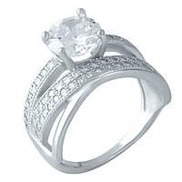 Серебряное кольцо Unicorn с фианитами (1955796) 18 размер, фото 1