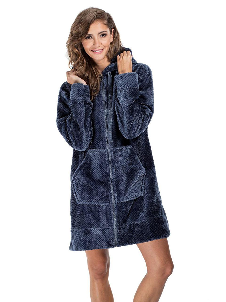 Короткий женский халат AGNES с карманами (S/M, L/XL в расцветках)