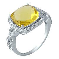 Серебряное кольцо  с цитрином nano