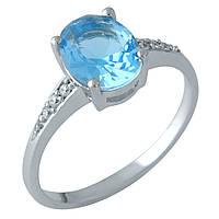 Серебряное кольцо Unicorn с аквамарином nano (1957943) 17 размер