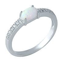 Серебряное кольцо  с опалом , фото 1