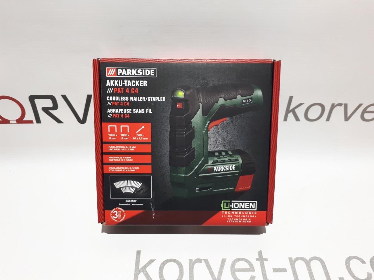 Степлер аккумуляторный Parkside PAT 4 C4