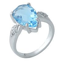 Серебряное кольцо  с аквамарином nano , фото 1