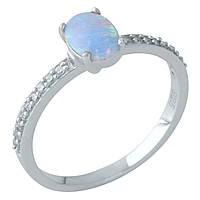 Серебряное кольцо Unicorn с опалом (1960653) 17 размер, фото 1