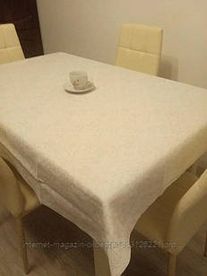 Скатерть столовая 110х150 см из рогожки Вензель TRA-1-318