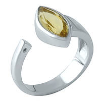 Серебряное кольцо Unicorn с цитрином nano (1961049) 18 размер, фото 1