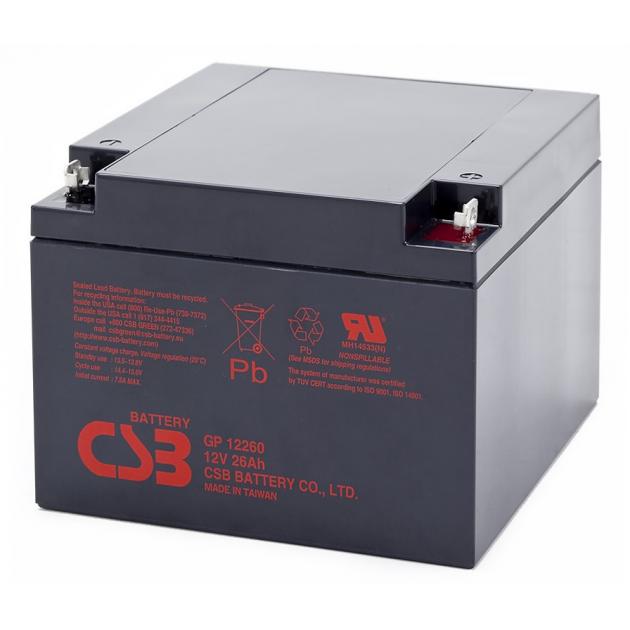 Аккумуляторная батарея AGM CSB GP12260 12V 26Ah