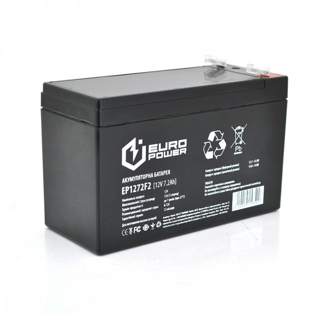 Аккумуляторная батарея AGM EuroPower EP12-7.2F2 12V 7.2Ah