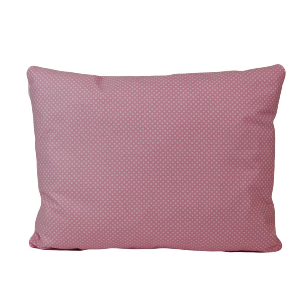 Подушка, 45*35 см, (бавовна), (горох на рожевому)