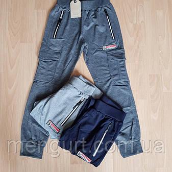 Детские спортивные штаны с накладными карманами 140-164 ПОЛЬША, фото 2