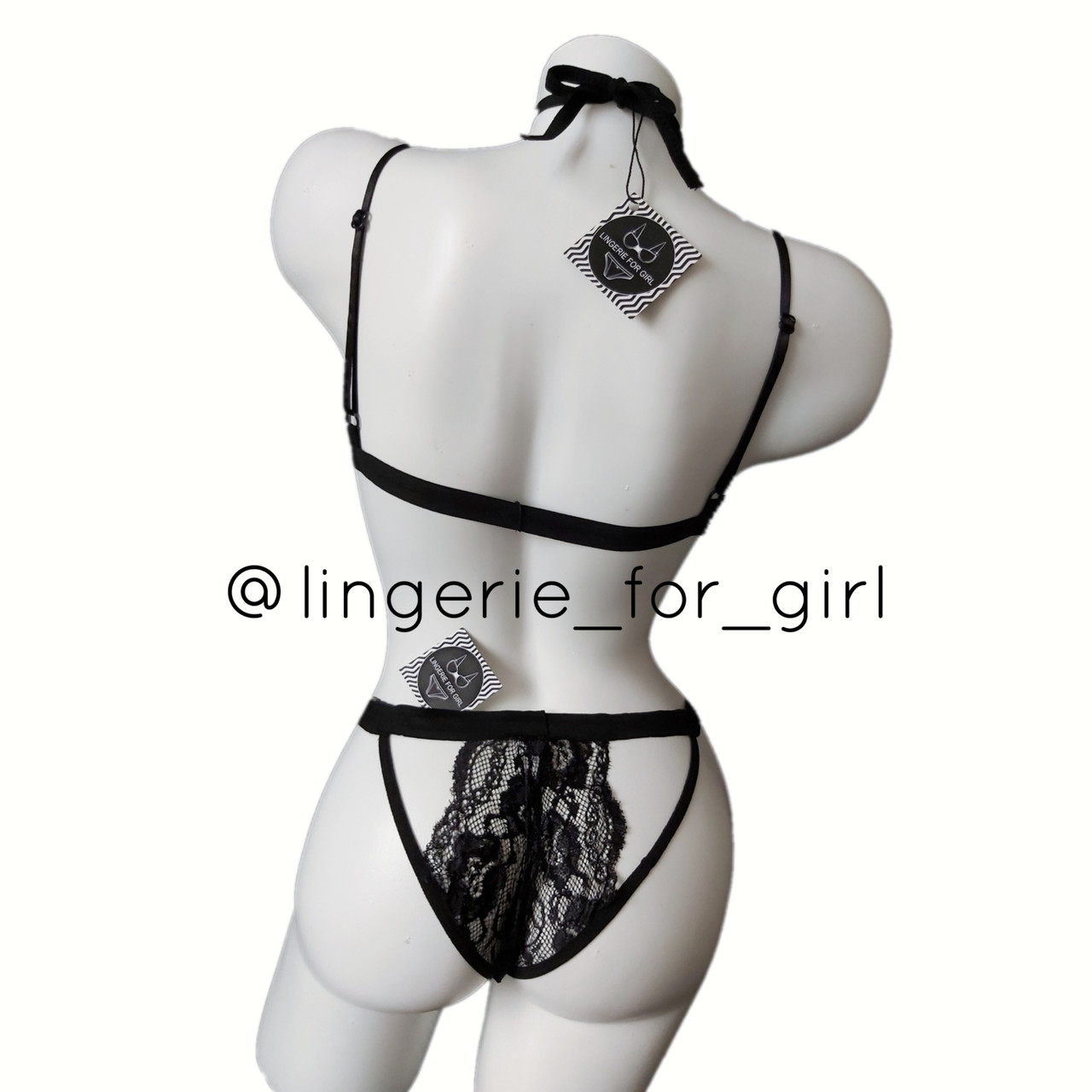 Кружевной женский комплект эротического нижнего белья Ruby Black - фото 7