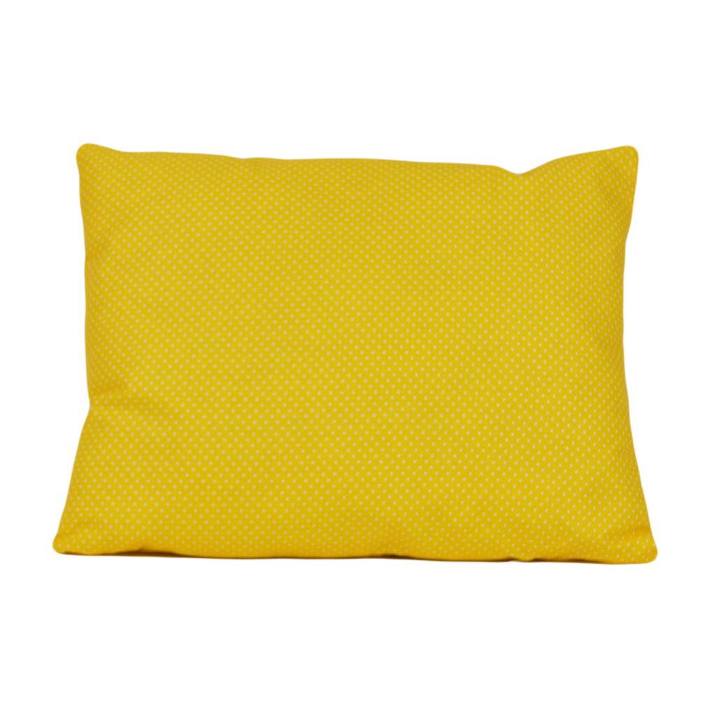 Подушка, 45*35 см, (бавовна), (горох на жовтому)