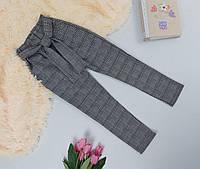 Классические брюки в клетку для девочки 134-158 р