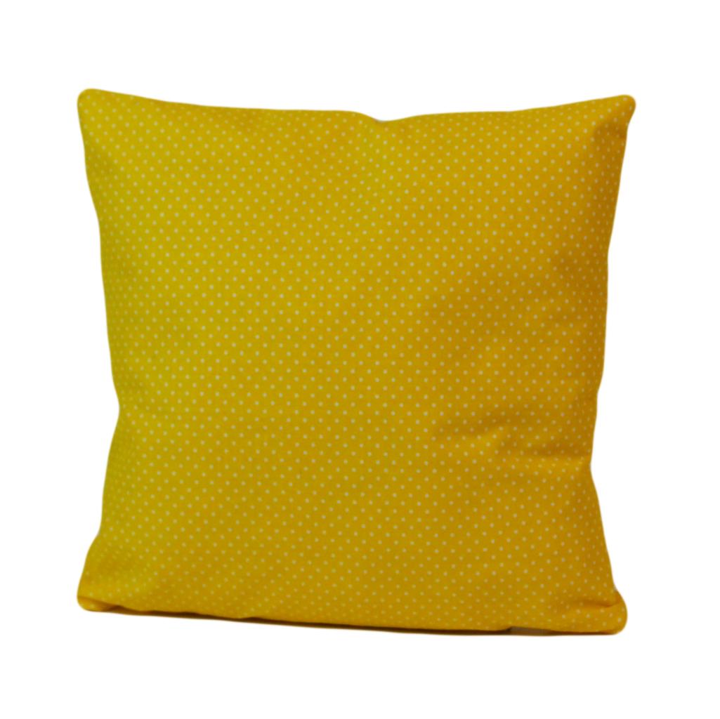 Подушка, 40*40 см, (бавовна), (горох на жовтому)