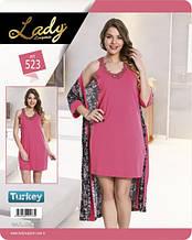Комплект для сну 523 халат+сорочка Lady Lingerie