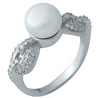 Серебряное кольцо Unicorn с натуральным жемчугом (1975770) 16.5 размер, фото 1