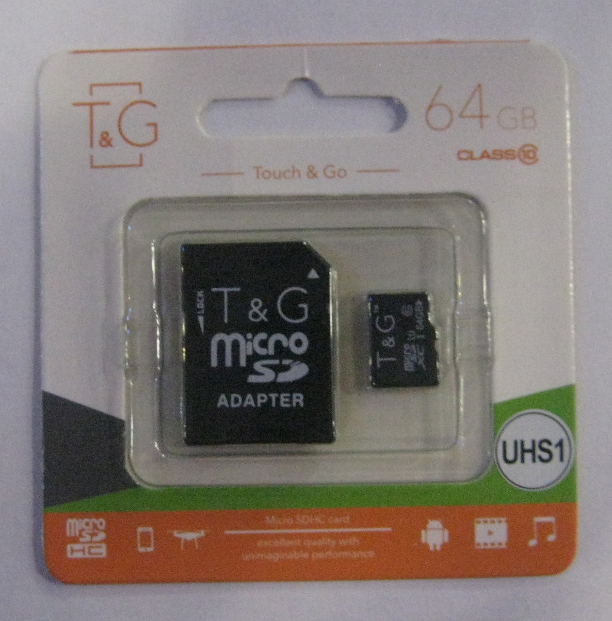 Карта памяти microSD T&G 64GB 10 class (SD adapter)