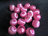 Шарики декорованы шелковой ниткой розовые, 10 шт, 1,7 см, 12\10 (цена за 1 шт. +2 грн.), фото 1