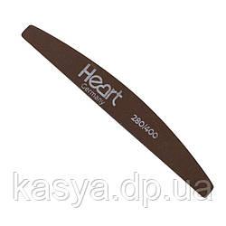 Пилка для ногтей Heart Titan Half Brown 280/400 гритт