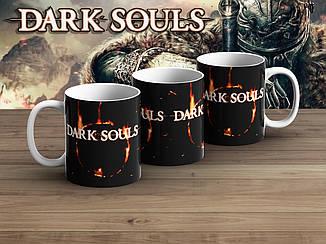 """Чашка Темные души """"Лого"""" в горящем круге / Dark Souls"""
