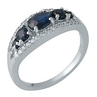 Серебряное кольцо Unicorn с натуральным сапфиром (1987742) 17 размер
