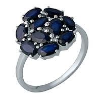 Серебряное кольцо Unicorn с натуральным сапфиром (1987759) 18 размер, фото 1