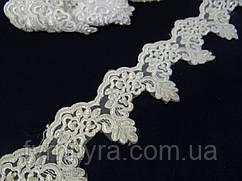 Кружево свадебное белое