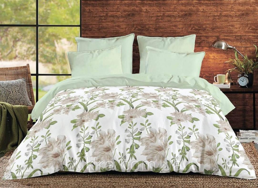 Двуспальное Евро постельное белье ТЕП 285 GREEN LEAF