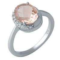 Серебряное кольцо  с морганитом nano , фото 1