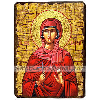 Икона Агафия Святая мученица ,икона на дереве 130х170 мм