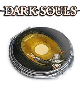 """Зеркальце карманное  Темные души """"Рыцарь и солнце"""" / Dark Souls"""