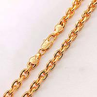 Цепочка Xuping Jewelry 60 см х 5 мм Якорная медицинское золото, позолота 18К А/В 4892