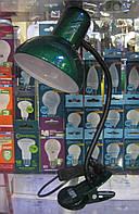 Лампа настольная Loga L-102 прищепка (изумруд)