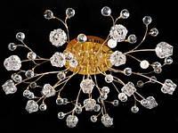 Люстра галогеновая на 16 лампочек с подсветкой и пультом управления для большой комнаты