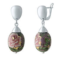 Серебряные серьги  с емаллю , фото 1