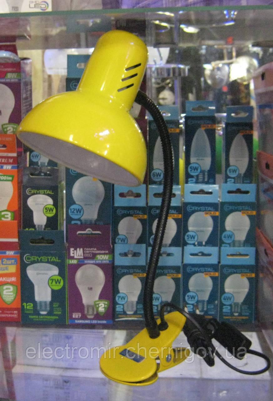 Лампа настольная Loga прищепка (подсолнух)