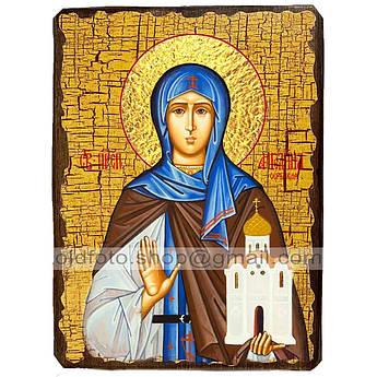 Икона Ангелина Святая Преподобная Сербская ,икона на дереве 130х170 мм