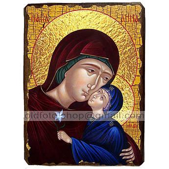 Икона Анна Святая Праведная мать Пресвятой Богородицы ,икона на дереве 130х170 мм