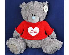 Мягкая игрушка Мишка Тедди в кофте LOVE (28 см, ГП) №1565-28