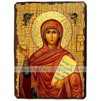 Икона Анна Святая Пророчица ,икона на дереве 130х170 мм