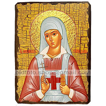 Икона Аполлинария Святая Преподобная ,икона на дереве 130х170 мм